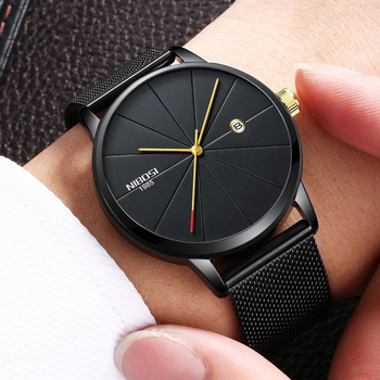 Nibosi Watches Man Clock Men's Wrist Watch Stainless Steel Ultra Thin Male Quartz Men's Wrist Watch Military Sport Watches Women
