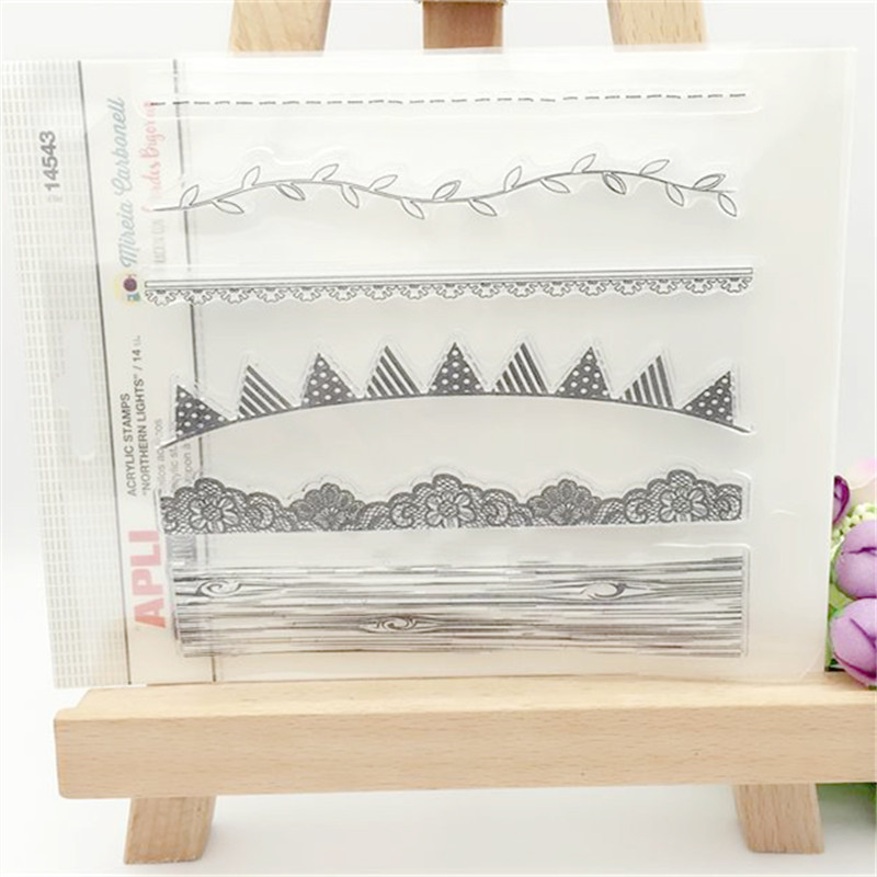Background Bar Designs Transparent Clear Stamp DIY Silicone Seals Scrapbooking/Card Making/Photo Album Decorative Accessories bigbang alive 2012 making collection repackage 2 photo books 150pages sticker release date 2013 5 22 kpop album