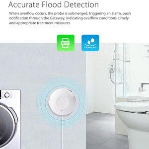 Image 2 - Ome assistente alarme inteligente sensor de água wi fi casa inteligente inundação água wi fi detector vazamento alarme sensor pk para xiaomi casa inteligente