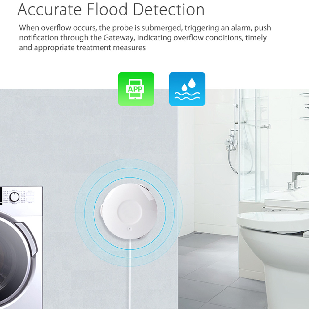 Image 2 - ome assistant alarm Smart Water Sensor WiFi smart home Water Flood WiFi Leak Detector Alarm Sensor PK for xiaomi smart home-in Smart Remote Control from Consumer Electronics