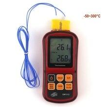 GM1312 Digital Thermometer Termometro 50 300C Temperature Meter for J K T E N R S