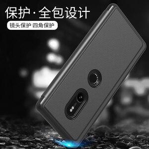 Image 2 - Ayna akıllı görünüm Flip Case Sony Xperia XZ3 Clear HD ekran tam kapak Xperia XZ3 XZ 3 Anti anti vurmak telefon kılıfları Coque çapa