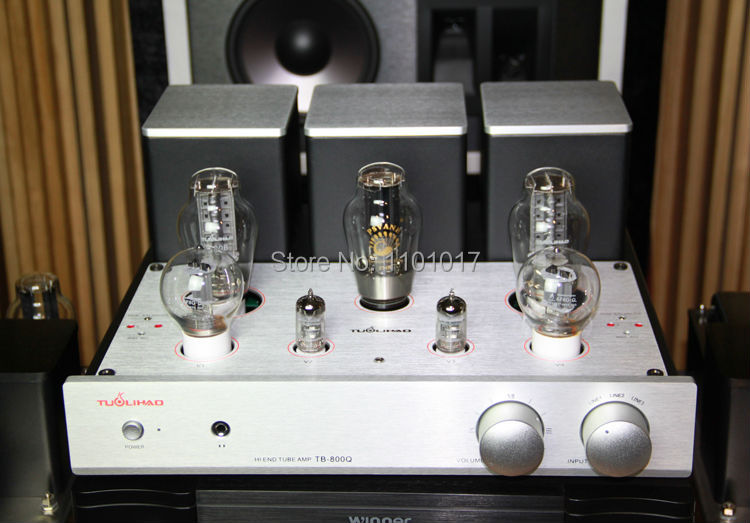 TUOLIHAO TB-800Q 300B tube amplifier HIFI EXQUIS   single-ended Pure class A 6F8G-Q 12ax7 lamp amp oldbuffalo 300b signal ended tube amplifier hifi exquis black aluminum chassis 4 way lamp amp
