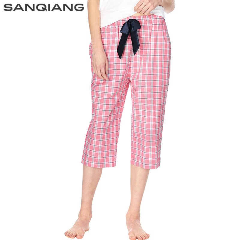 SANQIANG Womens Sleep Bottoms Pajamas Pants Loose Cotton Home Half Pijama Pant Ladies Underwear Trousers Pyjamas Women Kawaii