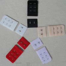 20 SETS/LOT  3 ROWS* 2 HOOKS Sewing accessories for Underwear Lingerie BRA Hook and EYE EXTENDER Extension ACCESSORIES