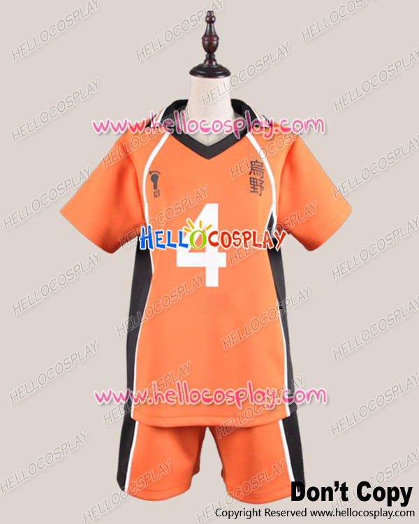 Haikyu Cosplay Juvenile The 4th Ver Uniform Costume H008 top+shorts
