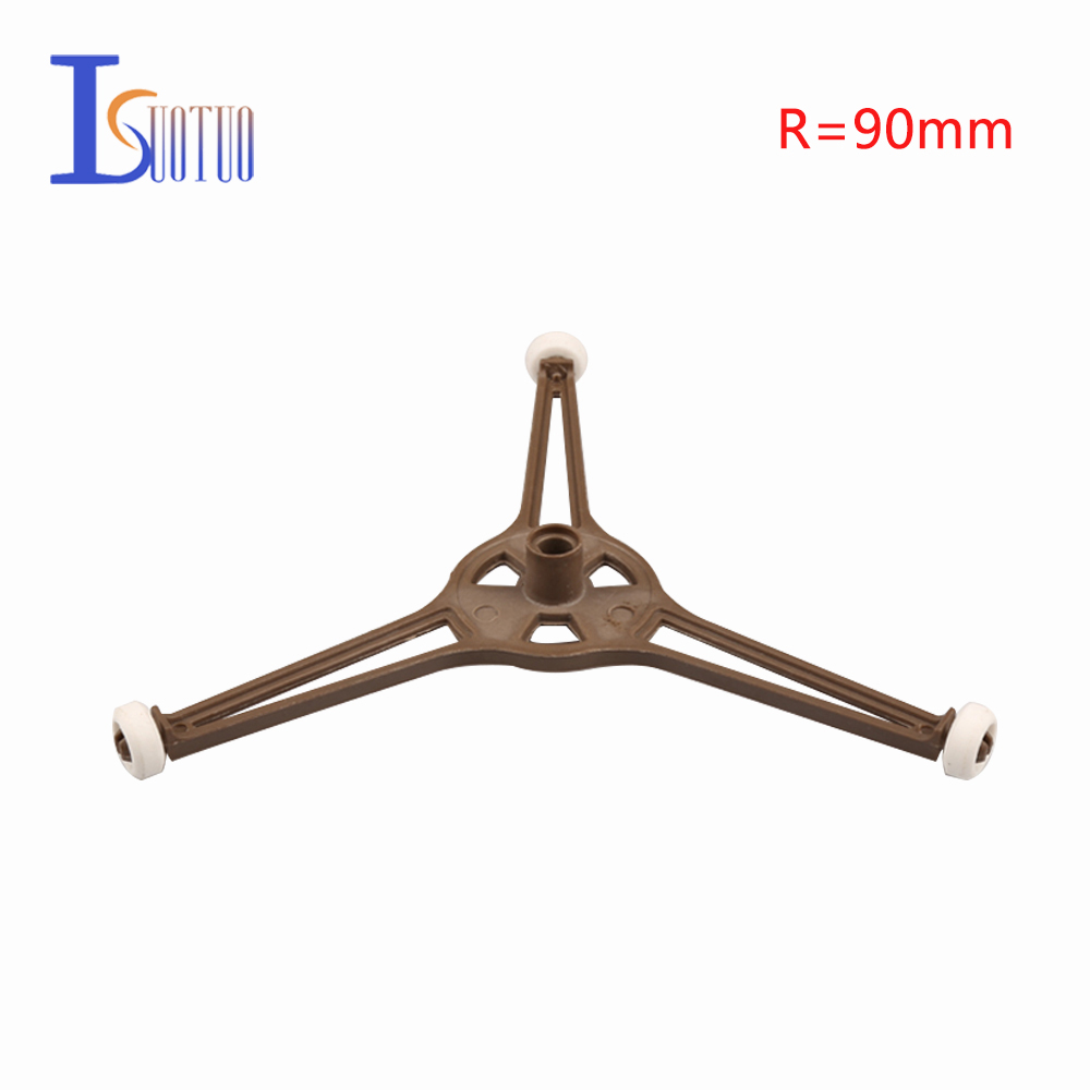 90mm Radius three Tripods 14/16/18/20 mm Wheel Runner/Turn Bracket Haier Galanz LG Microwave Oven Parts цена