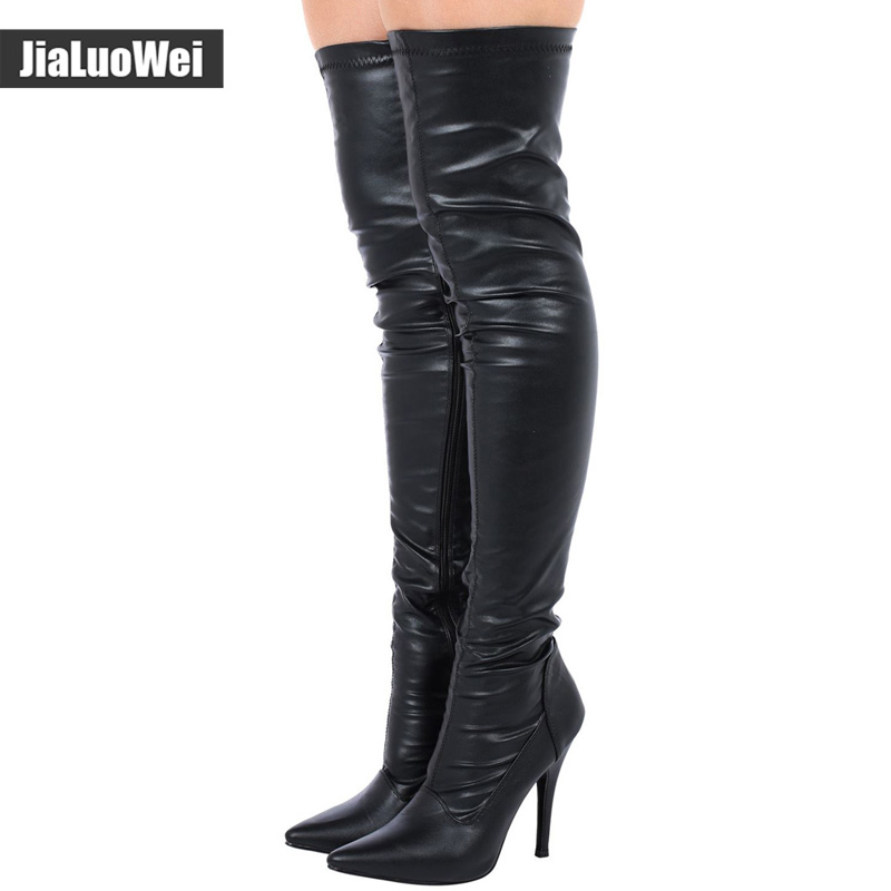 Image 4 - jialuowei TOP SALE ladies sexy pointed toe thigh high boots,  Women High Heeled Casade Platform Boots Thigh High winter bootsthigh  high winter bootsthigh high bootshigh boots