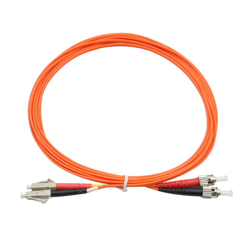 15 Meters LC-ST Fiber Optic Cable MultiMode Duplex Patch Cord OM2 50/125 15M