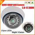 Manually Varifocal Lens 3MP 2.8MM-12MM AHD Camera Full HD 1080P AHDH Camera Indoor Security Surveillance Camera AHD 1080P