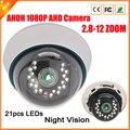 Manualmente Varifocal lente 3MP 2.8 MM - 12 MM AHD câmera Full HD 1080 P câmera de vigilância de segurança AHD AHDH Camera Indoor 1080 P