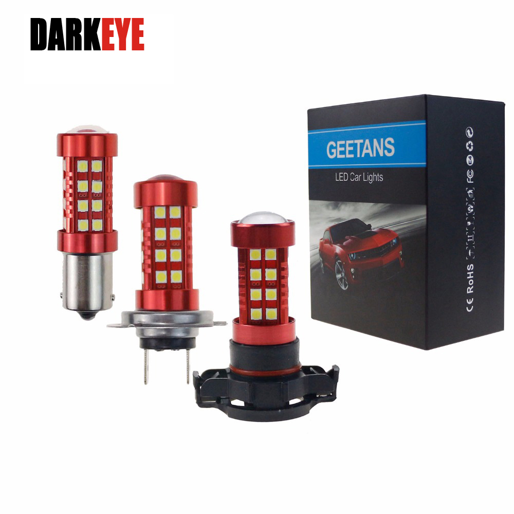 DARKEY LED H4 H7 H11 H8 H9 DRL Tågelygter LED 9005 9006 H10 H16 - Billygter - Foto 1