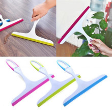 1Pc Portable Home Glass Scraper Wiper Window Brush Cleaner Car Window Squeegee Cleaning Wiper Rubber Blade Easy to Use Tool(China)