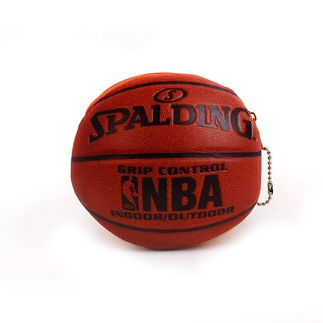 Cute Creative Plush Coin Change Purse Zipper Mini Children Kids Bag Wallets Football Basketball Boy Christmas Gift