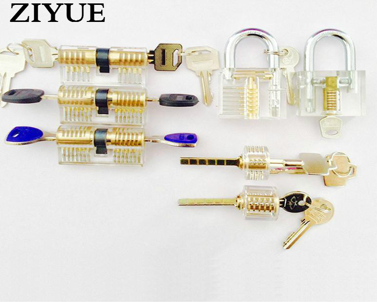 ФОТО Free Shipping Transparent Exercise Seven Piece Lock Locksmith Lock