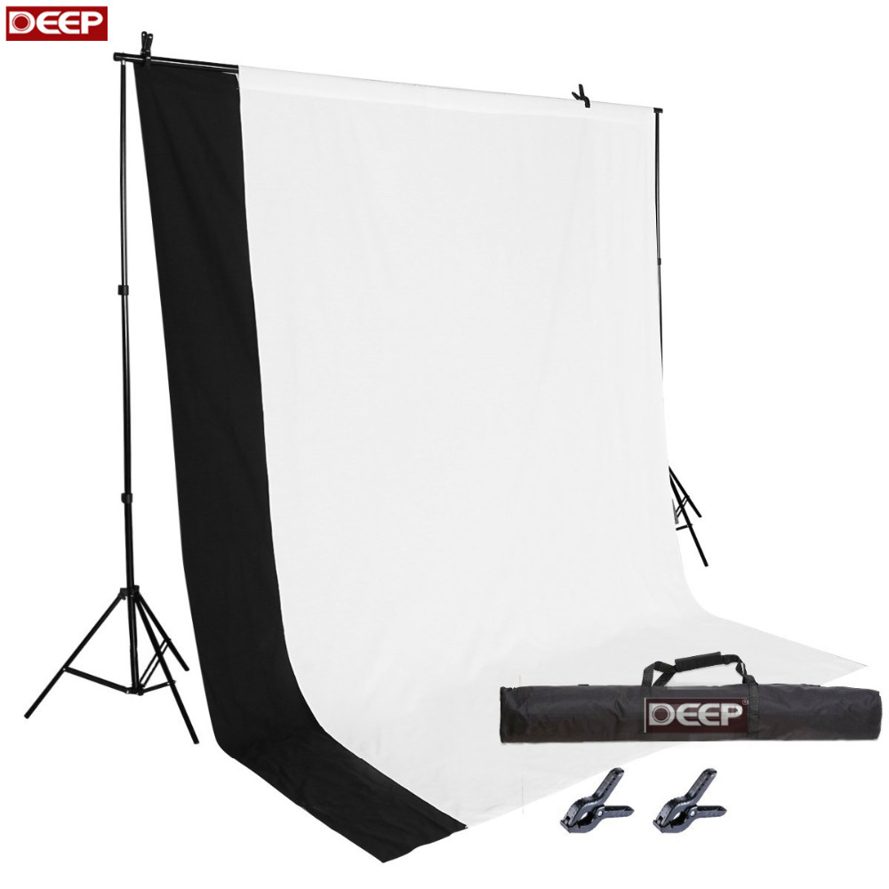 DHLTNT Fabric NonWoven 2x3M Photography Photo Video Studio Backdrop Background Kit White Black Chromakey Backdrops Support Stand сумка nike studio kit m ba4914 007