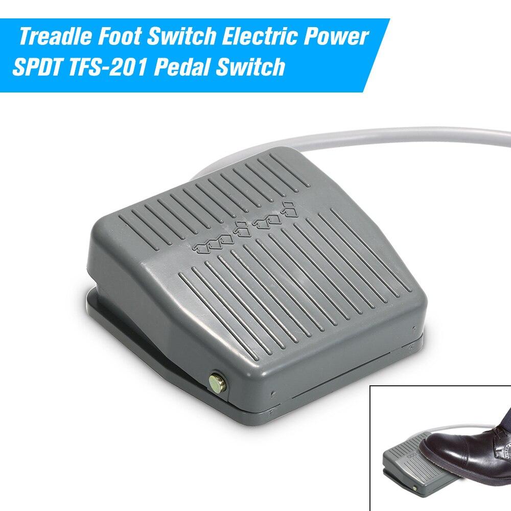 Zugangskontrolle Kits Zugangskontrolle Pedal Fuß Schalter Elektrische Power Spdt Tfs-201 Pedal Schalter Dc5-48v/ac24-250v Momentary Steuer No/nc Rast Reset Schalter