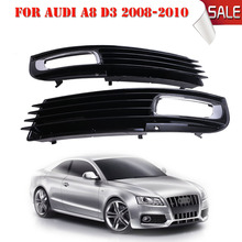 For AUDI A8 Quattro D3 2008 2009 2010 Front Driving Grill Fog Lights Grilles L&R OEM 4E0807680B 4E0807679B Car Styling #P310