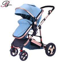 2019 Aluminum alloy Baby Stroller Can Sit and lying stroll Folding High Landscape Baby pram 2 in 1 stroller