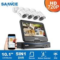SANNCE 8CH 720P AHD DVR 4PCS 1200TVL IR Night Vision Outdoor CCTV Camera 24 LEDs Home