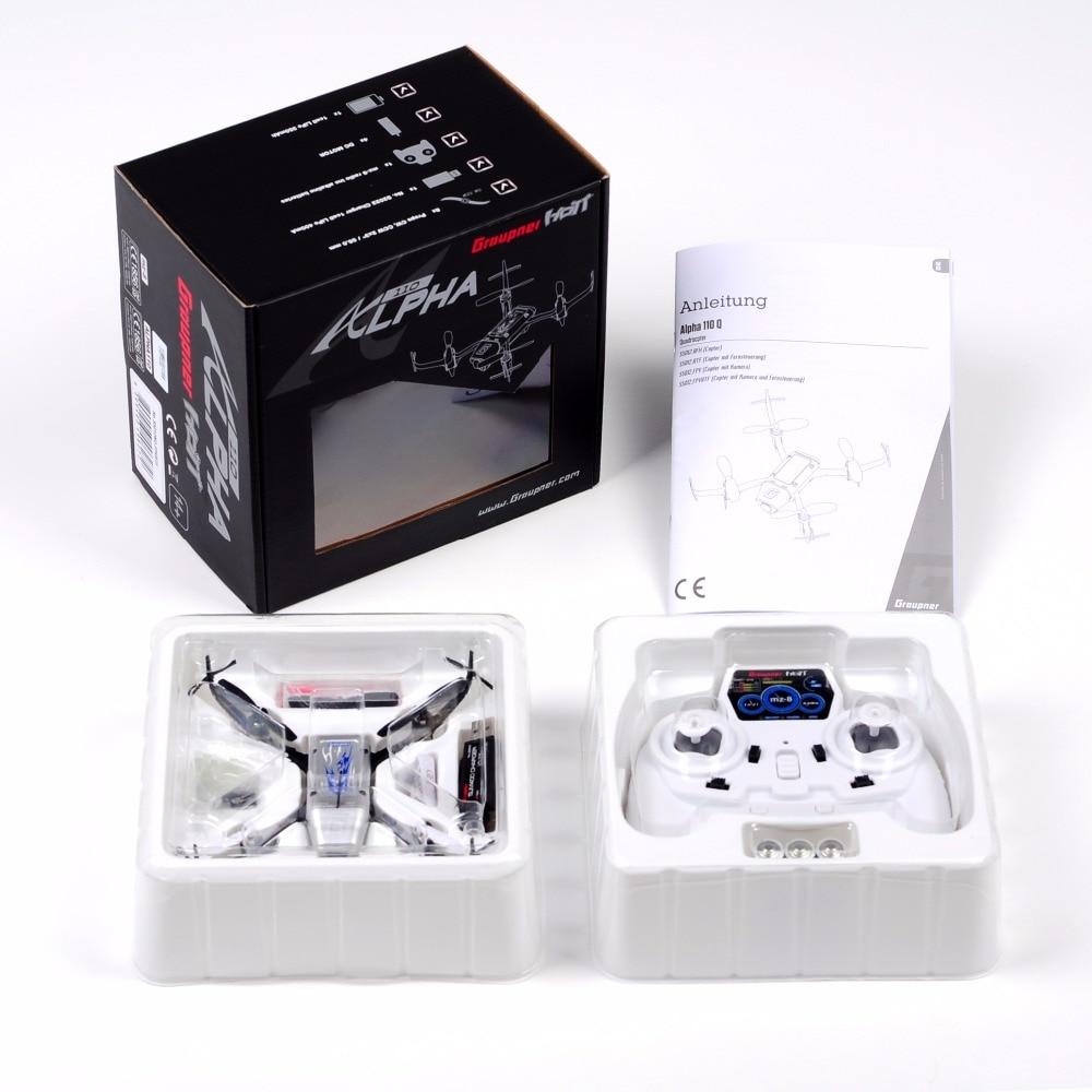Graupner Alpha 110 Quad Copter RTF RC avec télécommande Drone quadrirotor avec caméra FPV RC hélicoptère Quad copter jouets
