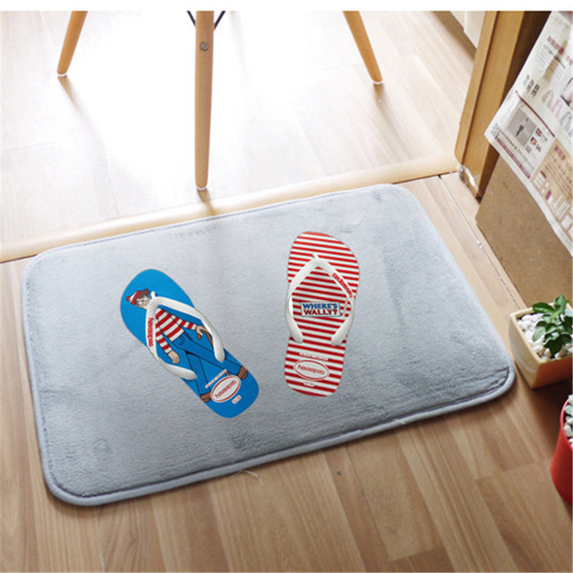 40x60cm Creative Non Slip Kitchen Floor Mats Resistant Entrance Doormats House Living Room Carpet Hallway Rugs