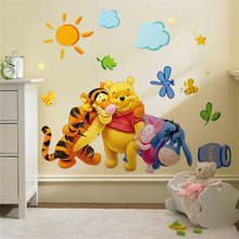 % Winnie the Pooh friends wall stickers for kids rooms zooyoo2006 decorative sticker adesivo de parede removable pvc wall decal