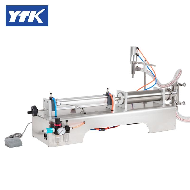 YTK 1000-5000ml Single Head Liquid Softdrink Pneumatic Filling Machine.Piston Feed Speed Adjustment Grind