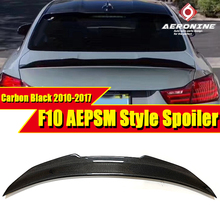 Fits For BMW F10 Trunk spoiler wing PSM style True Carbon fiber 5 series 525i 528i 530i 535i 550i wings Rear spoiler 2010-2017 for bmw f10 carbon fiber cf trunk spoiler wing psm style 5 series 520i 525i 530i 550i high kick big rear wing spoiler 2010 2017