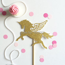 Glod Glittery Unicorn With Wing Paper Cupcake Topper 20pcs Free Shipping free shipping 2port node onpc with 2 dmx outputs can be combined with onpc command wing and faber wing easy remote configuration