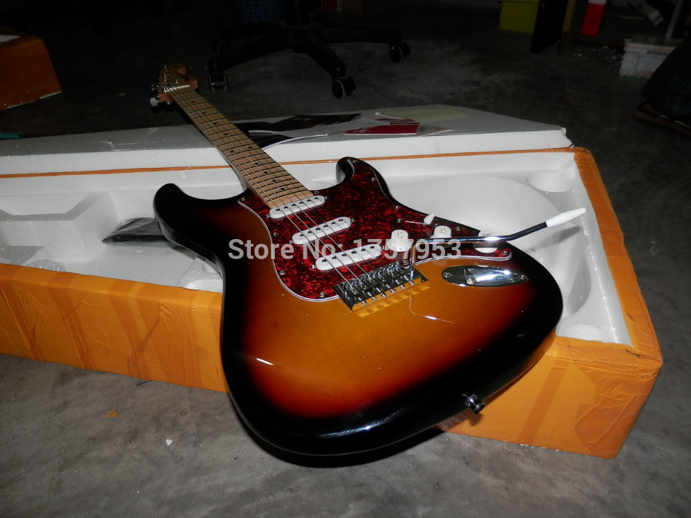 Factory custom shop 2017 Newest Arrival Custom St  sunburst  Electric Guitar Free shipping 1 6  stratocaster стоимость