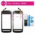 Original 3.2'' For Nokia 5800 Touch Screen Digitizer Sensor Glass Lens Panel Black + Tools Free shipping