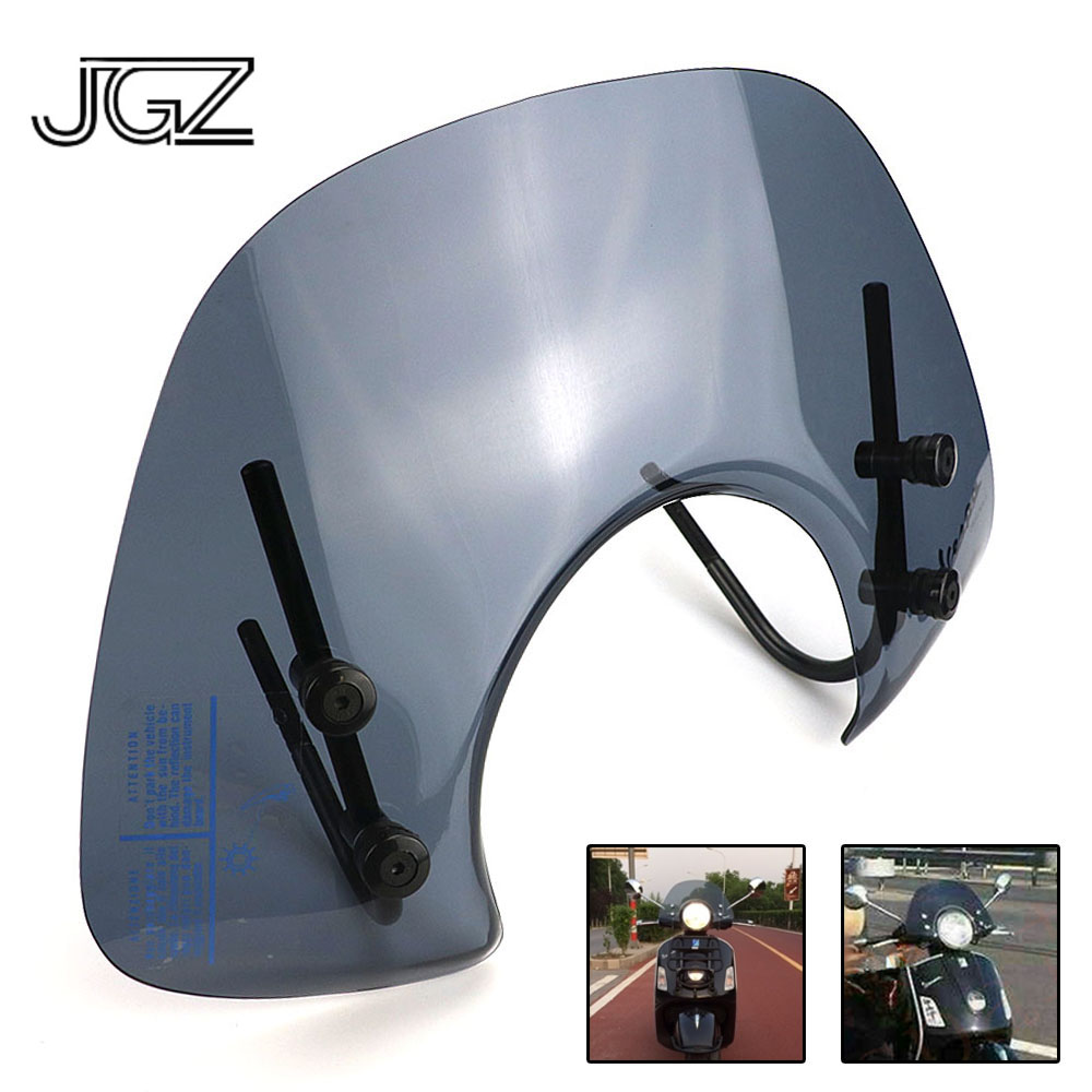 For VESPA GTS 250 300 Front Acrylic Screen Windshield Windscreen Motorcycle Wind Deflector Cover Black Modified