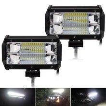 Safego 5 дюймов 72 Вт светодиодный свет потока работы 24*3 Вт светодиодный чипы внедорожнике света противотуманных фар дальнего света для магистральных Лодка Трактор джип автомобиль