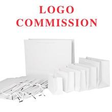 10 шт. 19*13*6 см белые бумажные пакеты 30*21*8 см для индивидуального логотипа Подарочный магазин вечерние свадебные украшения дома подарок