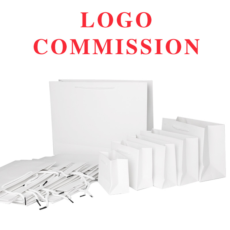 10pcs 19*13*6cm White Paper Bags 30*21*8cm For Customization Logo Free Shipping Gift Shop Party Wedding House Decoration Gift