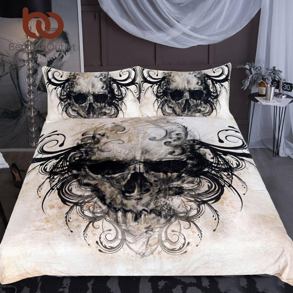 Biancheria Da Letto Outlet.Beddingoutlet Gotico Del Cranio Set Di Biancheria Da Letto Vintage