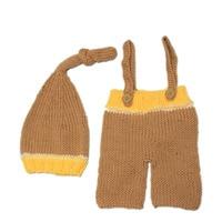 Cute Newborn Baby Girls Boys Crochet Wool Knit Costume Photo Photography Prop Outfits