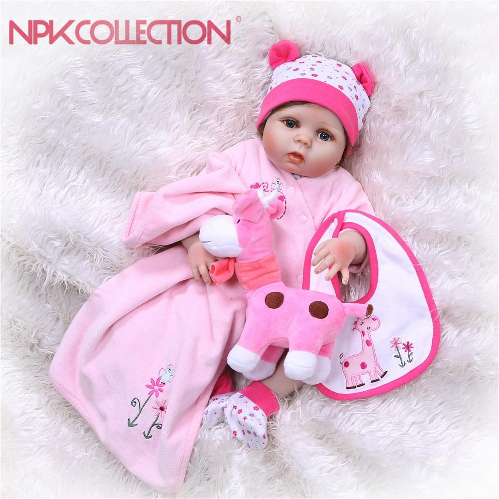 NPK Reborn Baby Dolls Silicone Full Body Soft Baby lifelike Doll For Girls Kid Fashion Bebes