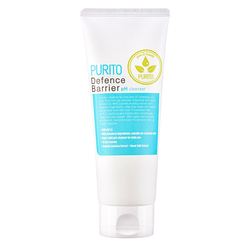 Best Korea Cosmetics PURITO Defence Barrier Ph Cleanser 150ml Face Exfoliator Facial Cleanser Recovery Gel PH5.5 image
