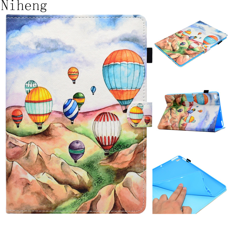 Case For Apple iPad Air 2 Case 9.7 Luxury Cute Painted Flip Auto Sleep Smart Stand Holder Cover For Apple iPad Air Case Cover zoyu smart cover for apple ipad air 2 air 1 case hot case for ipad 5 6 case