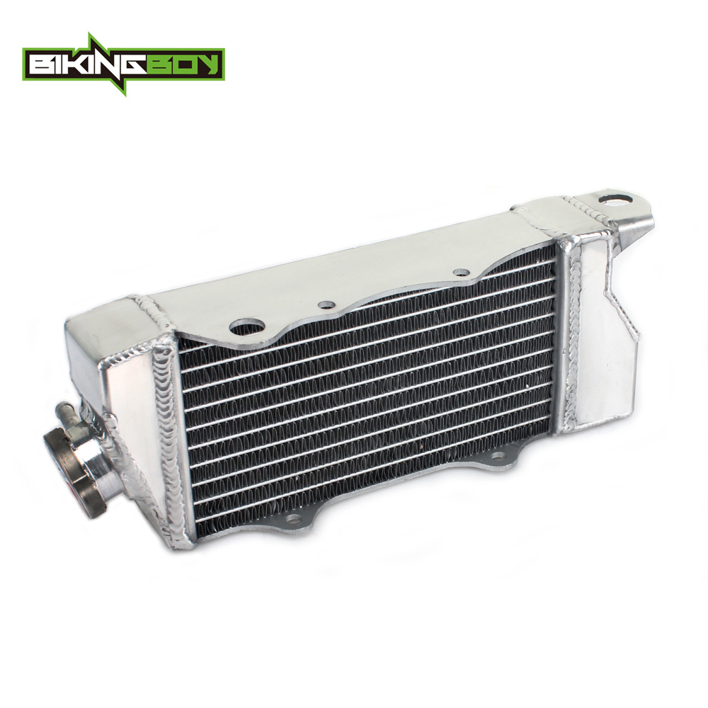 BIKINGBOY MX Offroad Motorcycle Aluminum Cores Engine Water Cooling Radiator For KAWASAKI KX 80 85 100 KX80 KX85 KX100 1998-2013 motorcycle brake lever and hand grip dirt bike pivot brake clutch levers for kawasaki kx65 kx80 kx85 kx100 kx 80 85 2001 2016