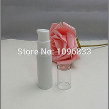 5ML White Airless Packing Bottles for Cosmetic Sample, 5G Lotion Pump Nozzle Airless Pump Bottle, White Airless Bottle,100pcs