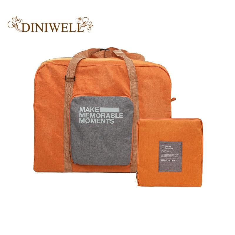 ebb56077dc79 Fashion Travel Luggage Bag Big Capacity Folding Carry-on Duffle Bag  Foldable Nylon Zipper WaterProof Travel Portable Bag 32L