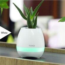 Caliente mini altavoz Bluetooth sensor smart maceta De Plástico maceta macetas decorativas Macetas bloempot pote de flor maceta