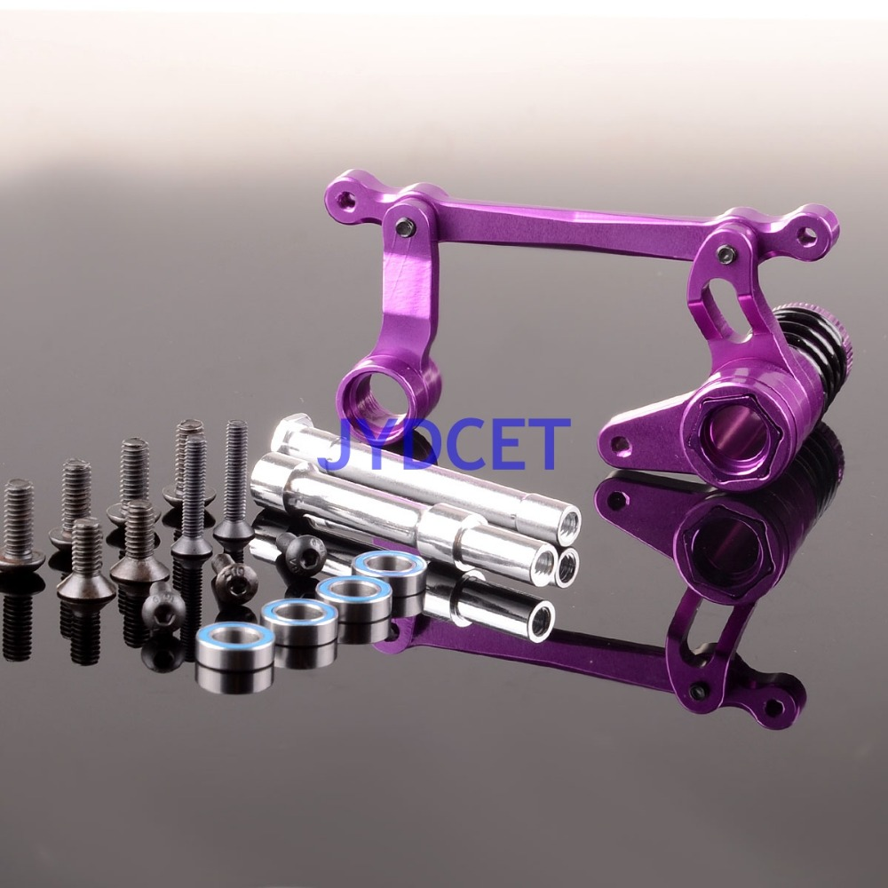 SAX048 Steering Assembly Aluminum For SAVAGE X XL FLUX HPI RC Model Car Parts hr hpi savage 4 6 5 9xl flux aluminum alondra widened 17mm clutch