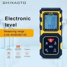 GHIXACTO Mini Laser Range finder 40M 60M 80M 100M Laser Distance Meter Laser Rangefinders Handheld Trena Tape Measure Tool D-ZH