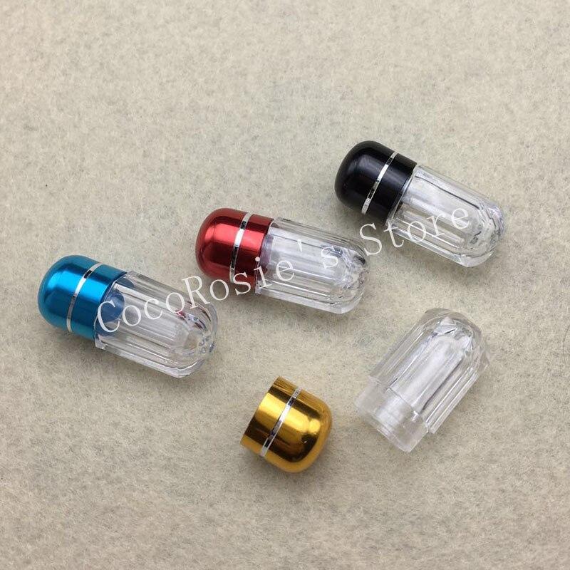 100pcs/lot 1g Capsules Bottle Mini Small Bottle For Powder Capsules 1ml Plastic Bottle