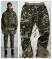 Nuevas Llegadas temor de dios de Camuflaje Estilo Militar Cordón Ajuste Cónico Pantalones Basculador de Calidad Superior Para Hombre Cremallera Tobillos