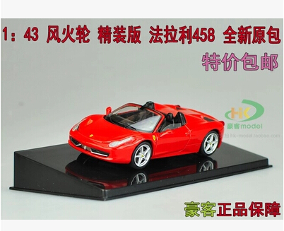 F458 SPIDER Hot wheels 1 43 car model alloy meatl diecast toy sports car supercar Furious